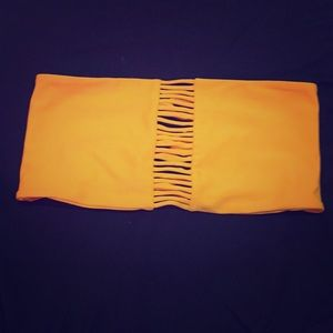 Orange bikini top MIKOH SWIMMEAR